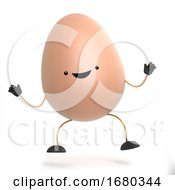 Poster, Art Print Of 3d Cute Toy Egg Does His Happy Dance