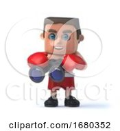 3d Boxer Has Binoculars by Steve Young
