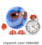 3d Plastic Cog With Stopwatch