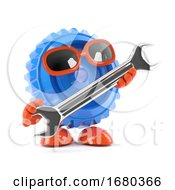 3d Cog With A Spanner