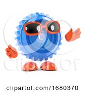 3d Cog With Arms Outstretched by Steve Young