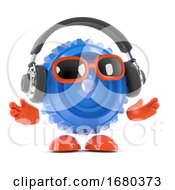 3d Cog Listens To Headphones by Steve Young