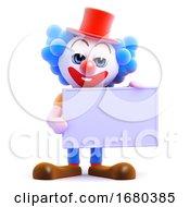 3d Clown Banner
