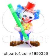 3d Clown Pencil