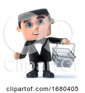 3d Bow Tie Spy Goes Shopping