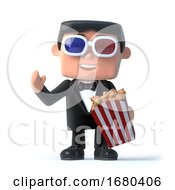 Poster, Art Print Of 3d Bow Tie Spy At The 3d Movies