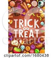 Trick Or Treat Halloween Border