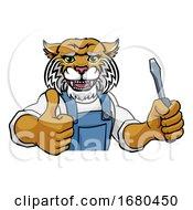 09/21/2019 - Wildcat Electrician Handyman Holding Screwdriver