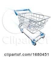 Fast Shopping Cart Trolley At High Speed