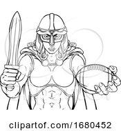 09/21/2019 - Viking Trojan Celtic Knight Football Warrior Woman