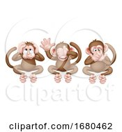 Monkeys See Hear Speak No Evil Cartoon Characters