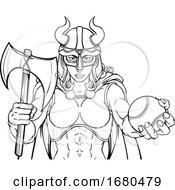 09/24/2019 - Viking Female Gladiator Baseball Warrior Woman