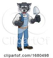 09/24/2019 - Wolf Gardener Gardening Animal Mascot