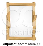 Wood Frame Sign Background Design Element