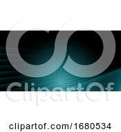 Abstract Halftone Dots Design Background
