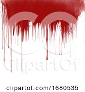 Blood Drips On White Background