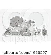 Drunk Man With Wine