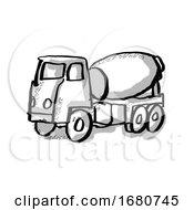 Cement Truck Cartoon Drawing