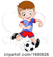 09/28/2019 - Cartoon Boy Playing Soccer