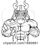 09/28/2019 - Viking Gamer Gladiator Warrior Controller Mascot