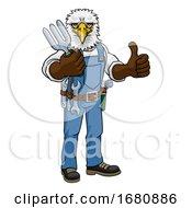 09/28/2019 - Eagle Gardener Gardening Animal Mascot