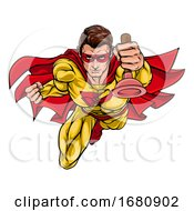 09/28/2019 - Super Plumber Handyman Superhero Holding Plunger