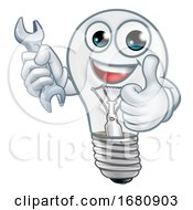 Light Bulb Cartoon Character Lightbulb Mascot