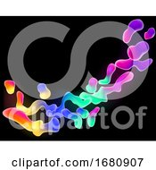 Rainbow Neon Color Lava Abstract Background