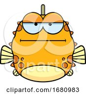 Cartoon Bored Blowfish