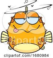 Cartoon Drunk Blowfish