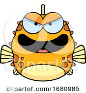 Cartoon Evil Blowfish