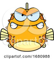 Cartoon Mad Blowfish