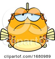 Cartoon Depressed Blowfish