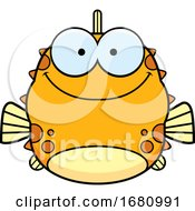 Cartoon Happy Blowfish