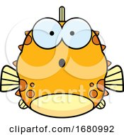 Cartoon Surprised Blowfish