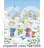 10/01/2019 - Children Making A Snowman