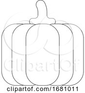 Pumpkin Cartoon Vegetable Coloring Illustration