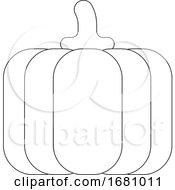 09/30/2019 - Pumpkin Cartoon Vegetable Coloring Illustration