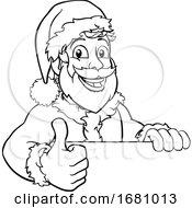 09/30/2019 - Young Santa Sign Thumbs Up Christmas Cartoon