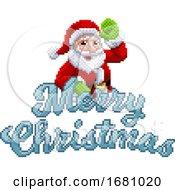 09/30/2019 - Marry Christmas Santa Claus 8 Bit Game Pixel Art