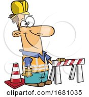 Cartoon Male Construction Worker