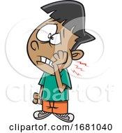 Cartoon Boy With A Tooth Ache