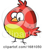 Cartoon Red Bird