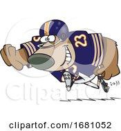 Cartoon Football Bear