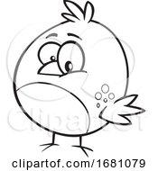 Cartoon Outline Bird