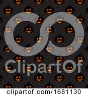 Halloween Pumpkin Pattern Background