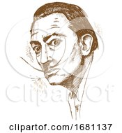 Sketched Portrait Of Salvador Dali
