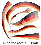 German Flag Design Elements