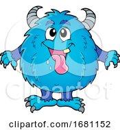 Furry Blue Monster