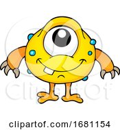 Cute Yellow Monster